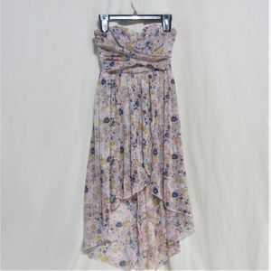 Speechless, Size 3, Floral print Strapless Dress